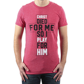 Rooted Soul, Christ Died For Me, Men's Short Sleeve T-Shirt, Heather Red, S-2XL