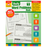 Evan-Moor, Daily Word Problems Teacher's Edition, Paperback, 128 Pages, Grade 1