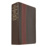 NLT Life Application Study Bible, Large Print, Duo-Tone, Thumb Indexed, Multiple Colors Available