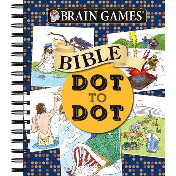 Brain Games Dot-to-Dot: Bible, by Publications International Ltd., Spiral Bound