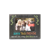 God Bless This House Picture Frame, 4 x 6 inch Photo Frame, Distressed Black