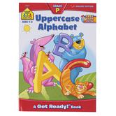School Zone, Uppercase Alphabet Deluxe Preschool Workbook, Paperback, 64 Pages, Grades PreK-K