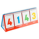 Junior Learning, Place Value Flips, Double-Sided, Grades K-4