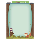 Woodland Tails Collection, Customizable Classroom Blank Chart, 17 x 22 Inches, Turquoise and Brown