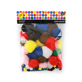 Pom Poms Value Pack, Assorted Bright Colors, Set of 100