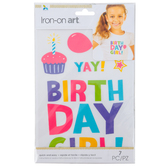 Momenta, Birthday Girl Iron On Applique, DIY, 7 Piece Set
