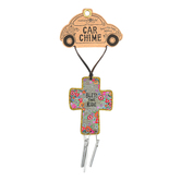 Natural Life, Bless This Ride Car Chime, Wood and Metal, 4 1/4 x 2 1/2 Inches