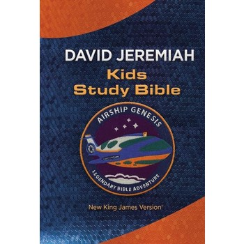 NKJV Airship Genesis Kids Study Bible, Imitation Leather, Blue and Orange