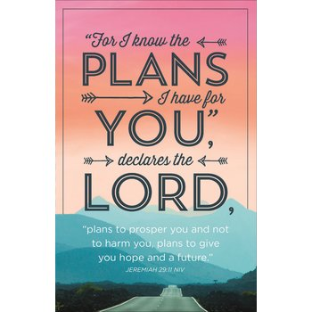 Salt & Light, Jeremiah 29:11 For I Know the Plans Church Bulletins, 8 1/2 x 11 inches Flat, 100 Count
