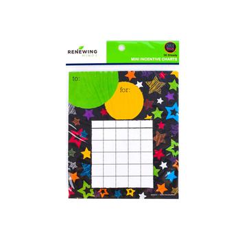 Chalk Talk Collection, Mini Incentive Charts, 4.75 x 6 Inches, Multi-Colored, 36 Sheets