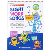 Scholastic, Sight Word Songs Flip Chart with Download, Spiral, 15 x 20.5, Grades K-2