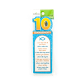 Renewing Minds, Ten Commandments  Bookmarks, Pack of 36