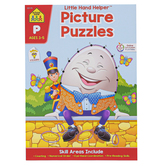 School Zone, Little Hand Helper Workbook: Picture Puzzles Preschool, Paperback, 32 pages, Ages 3-5