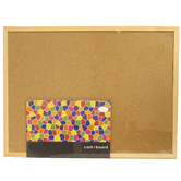 Imagination Station, Wooden Frame Cork Board, 17 x 23 Inches, Tan, 1 Board