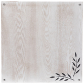 Leaf & Wood Dry Erase Board, MDF, 23 5/8 x 23 5/8 x 1 5/8 Inches