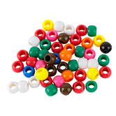 Tree House Studio, Large Hole Beads, 9 x 11mm, Assorted Colors, 130 count
