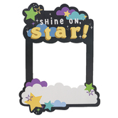 School Shop, Wander Ridge Custom Photo Booth Frame Shine On Star BTS, Multi-Colored, 15 x 20 Inches, 1 Each