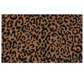 Cheetah Print Doormat, Coir, Brown & Black, 18 x 30 inches