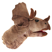 The Puppet Company, Triceratops Head Puppet, Brown, 17 inches