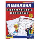 Gallopade, Nebraska Interactive Notebook: A Hands-On Approach, Paperback, 68 Pages, Grades 3-5