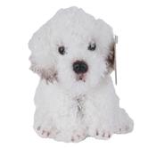 Demdaco, Bichon Frise Dog Beanbag Stuffed Animal, White, 5 1/2 inches