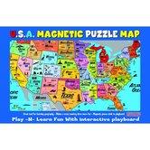 ATTA-Boy,  USA Magnetic Puzzle Map, 16.75 x 11 Inches, Multi-Colored, 37 Pieces