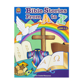 Teacher Created Resources, Bible Stories From A to Z Activity Book, Ages 5-9