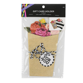 Brother Sister Design Studio, Rose Bundle Gift Card Holder, 3 3/4 x 5 3/4 inches