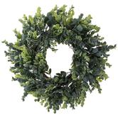 Bella Vita, Eucalyptus Wreath, Plastic, Green, 15 Inches