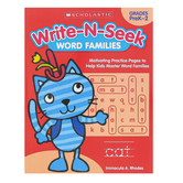 Scholastic, Write N Seek Word Families Activity Book, Paperback, 64 Pages, Grade PreK-2