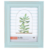 Green Tree Gallery, Distressed Wood Tabletop Photo Frame, Blue, 10.50 x 12 Inches, holds 8 x 10 Photo