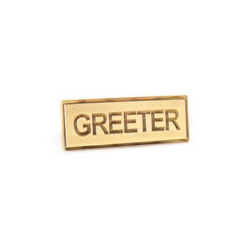Gold Badge - Greeter (Magnetic)