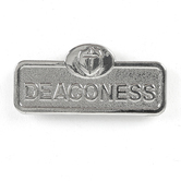 B&H Publishing Group, Deaconess Badge with Cross, Zinc Alloy, Silver, 2 x 2/3 inches
