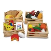 Melissa & Doug, Wooden Food Groups Food Set, Ages 3 to 6 Years Old, 25 Pieces