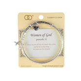 Oori Trading, Proverbs 31, Women of God, Twist Bangle, Silver Plated