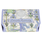 Michel Design Works, Lavender Rosemary Large Bath Soap Bar, 8.7 ounces, 4 3/8 x 2 3/4 x 2 inches