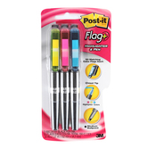 3M, Post-it, Flag + Highlighter and Pen Set, Assorted, 3 Pens 50 Sheets Each