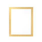 ArtSkills, Glitter Framed Poster Board, 22 x 28 Inches, White and Gold, 1 Piece