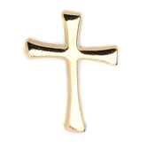 H.J. Sherman, Cross Lapel Pin, Gold Plated, 3/4 x 1/2 inches