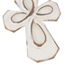 Whitewash Cross with Distressed Edges, Resin, White, 8 x 3 1/2 inches