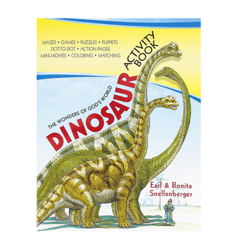 Master Books, Dinosaur Activity Book, Softcover, 128 Pages, Grades 3-6
