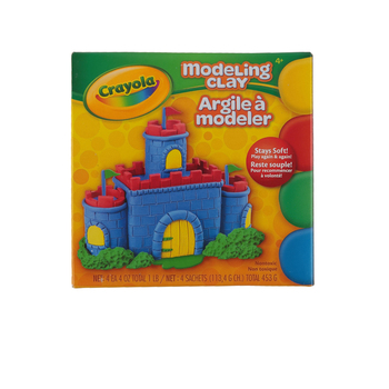 Crayola, Modeling Clay, Assorted Basic Primary Colors, 4 Pieces, 4 Ounces, Ages   4 and up