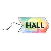 Retro Chic Collection, Hall Pass, 3 x 6 Inches, Multi-Colored Ombre Pattern