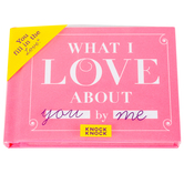 Knock Knock, What I Love about You Fill in the Love Book, Hardcover, 4 1/2 x 3 1/4 inches