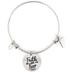 Modern Grace, Psalm 118:6 Faith Over Fear Wire Bangle Bracelet, Zinc Alloy, Silver