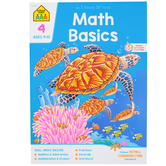 School Zone, Math Basics 4 Deluxe Edition Workbook, Paperback, 59 Pages, Grade 4