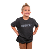 Crazy Cool Threads, Tiny Disciple, Kid's Short Sleeve T-Shirt, Charcoal, 2T-5T