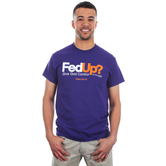 Kerusso, Psalm 34:19, FedUp? Give God Control, Men's Short Sleeve T-Shirt, Purple, S-3XL