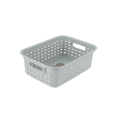 Sterilite, Small Weave Basket, Gray, 11.25 x 8.50 x 4 Inches, 1 Piece