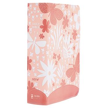 NIV Giant Print Compact Bible for Girls, Imitation Leather, Coral